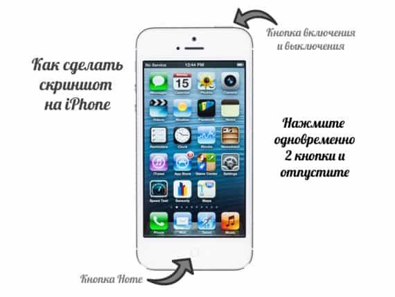 Как сделать скрин с экрана айфона 4