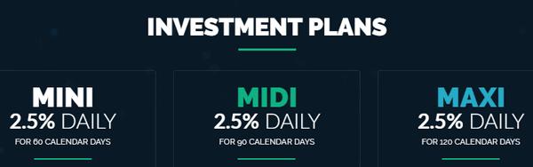 Инвестиционные планы компании Trade BTC
