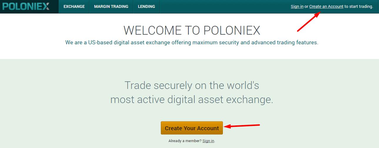 Poloniex как работать