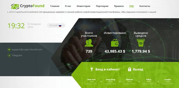 Crypto Found com - Отзывы и обзор