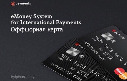 Карта и кошелек ePayments - отзывы. Епейментс