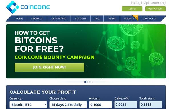Coincome info - Отзывы и обзор