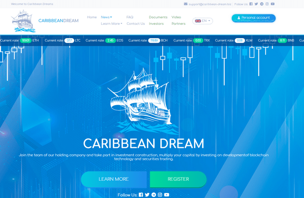 Caribbean Dream biz - Отзывы и обзор Caribbean Dream