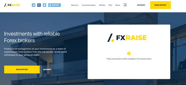 FXraise com - Отзывы и обзор FX Raise