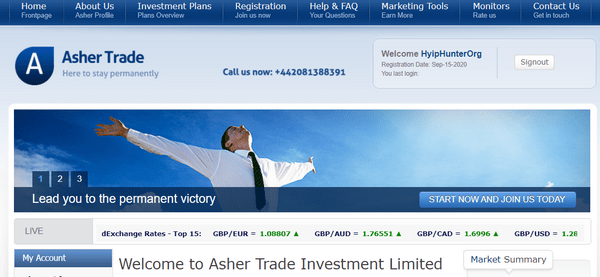 Ashertrade Отзывы