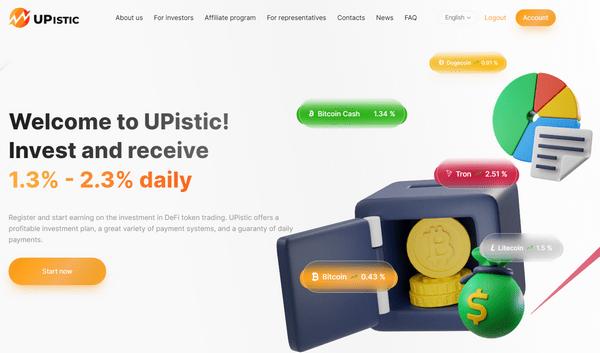 Upistic – Отзывы и обзор проекта-копилки. Бонус 5% от каждого вклада